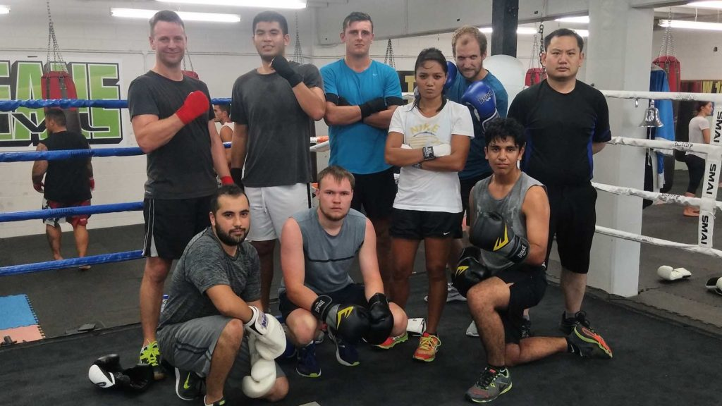 boxing gym training team