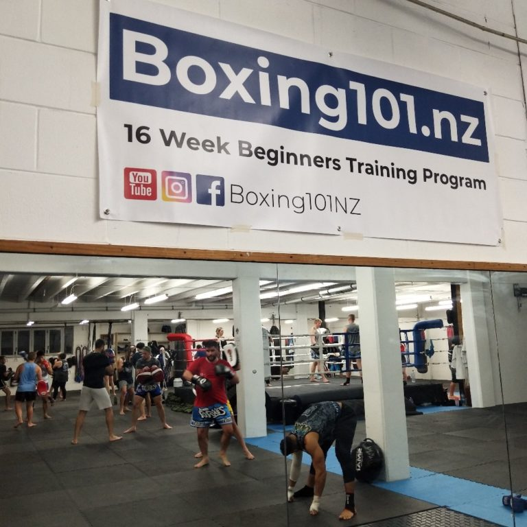 Boxing 101 New Zealand Gym Sign