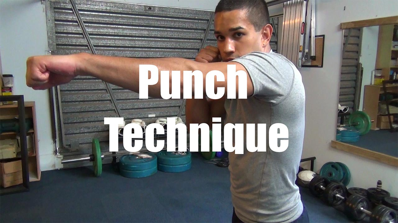 the correct boxing punch technique