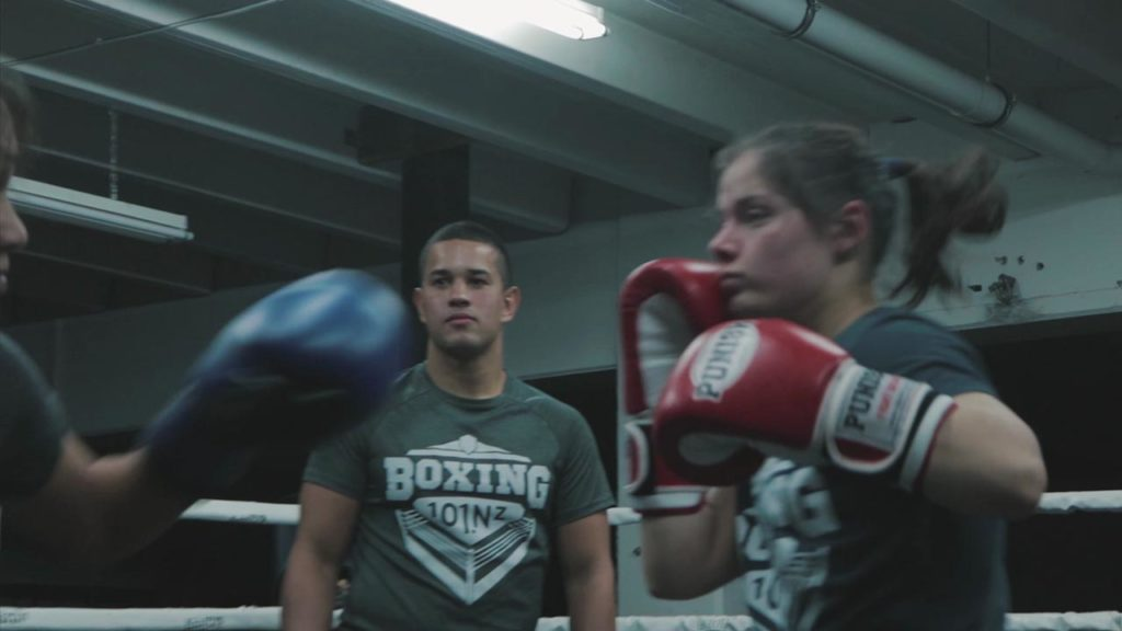 females boxing fight training