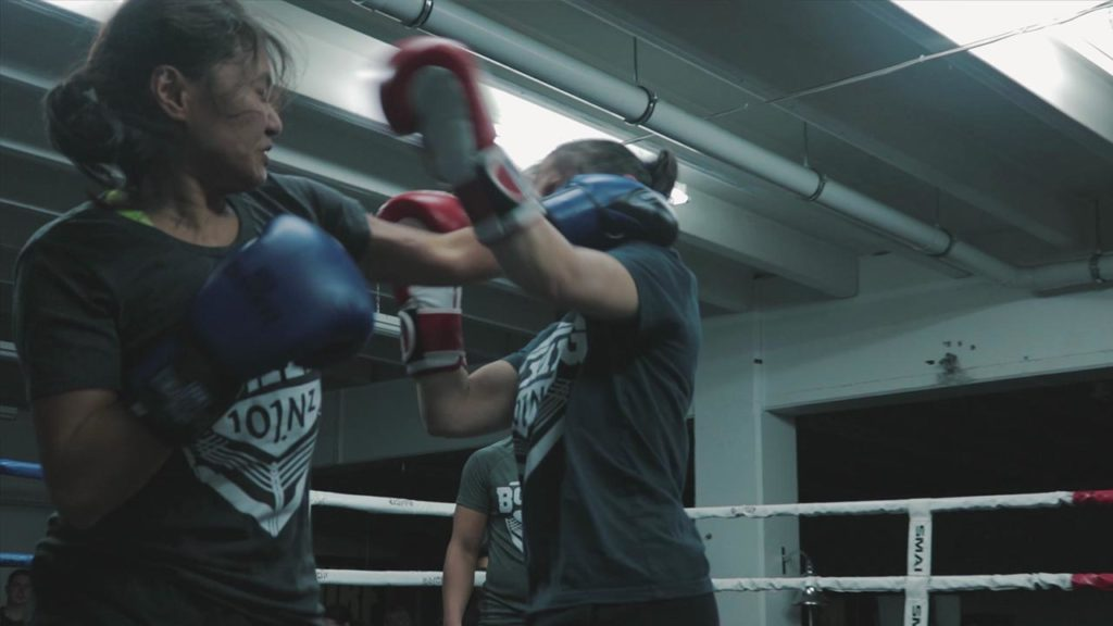womens boxing fight training