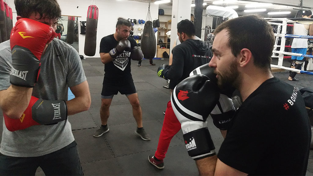 boxing sparring training