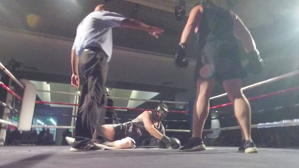 Boxing101.nz student Phil Young Wins Fight by Knockout