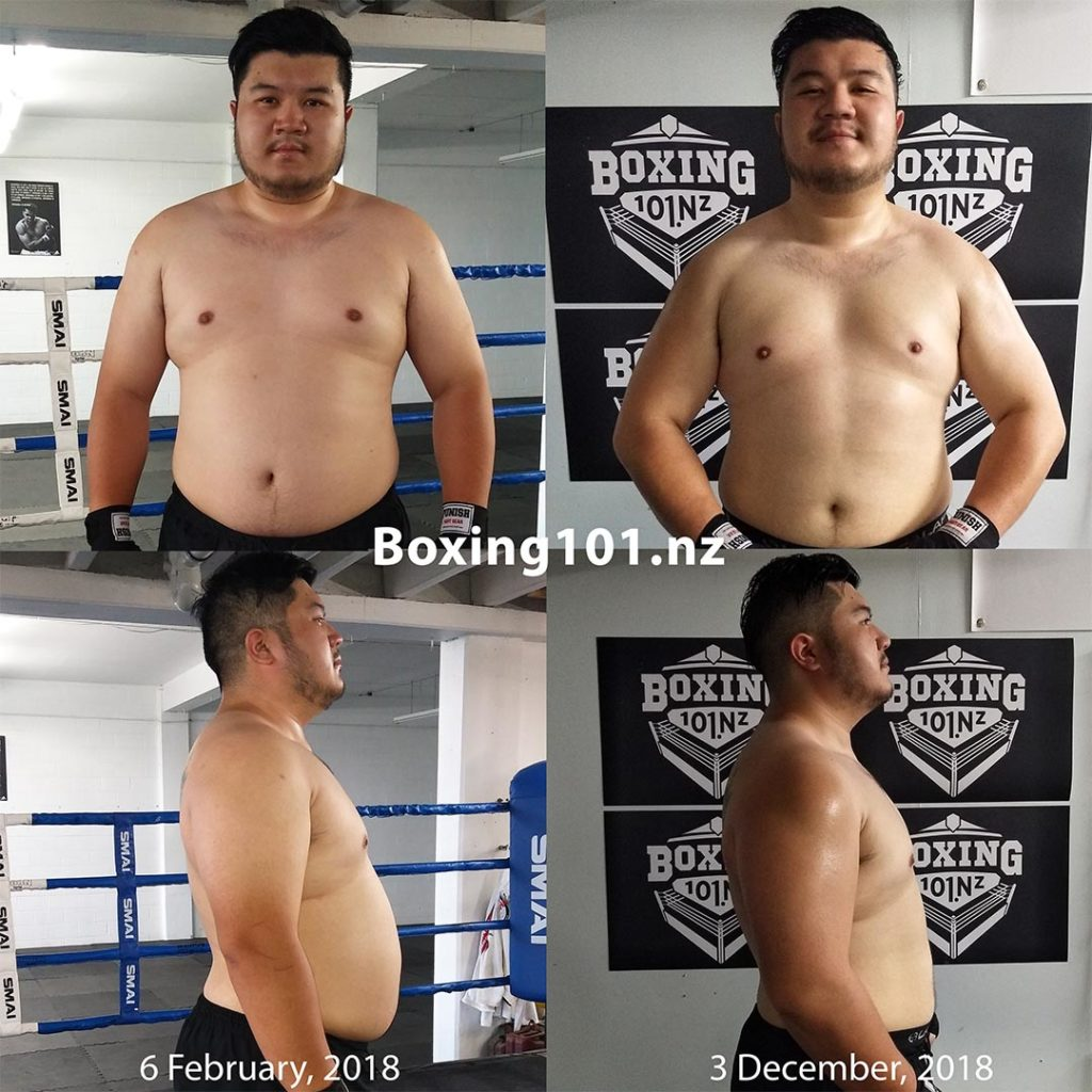 Julian's Weight Loss from Boxing Training